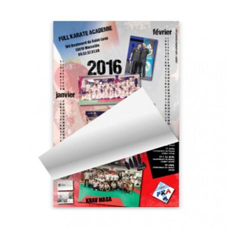 Calendrier Associatif Format A4 6 Pages | Feuilles détachables