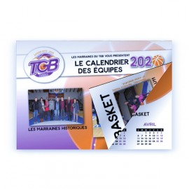Calendrier A4 8 pages - Reliure 2 agrafes
